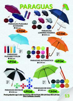 Página 13: Paraguas.