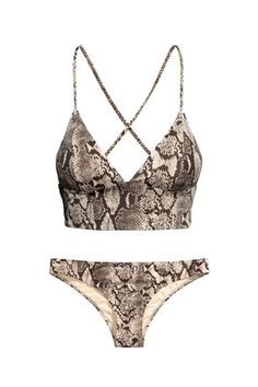 Not only is a python-print bikini cool and unexpected, but the crisscross straps and extra coverage under the bust give it more support than most two-pieces.
