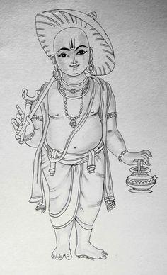 Abstract Pencil Drawings, 3d Art Drawing, Art Drawings Sketches, Kerala Mural Painting, Indian Art Paintings, Madhubani Painting, Lord Ganesha Paintings, Krishna Painting, Krishna Art