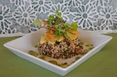 Ordinary Vegan Quinoa Salad with Sweet Potato, Avocado & Tomatillo Dressing