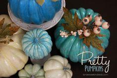 Blue pumpkins ... how pretty!  Pumpkins in purple might be pretty TOO!!  :)