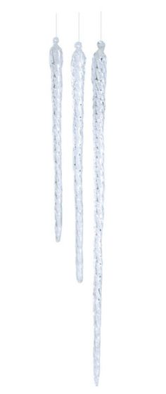 Icicles #ornament #winter #Christmas #clear