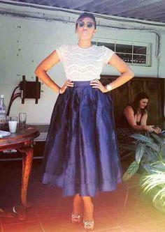 OTHA SS15 | 50's Organza Maxi Skirt  #HausOfStone #Urban #Vintage #African