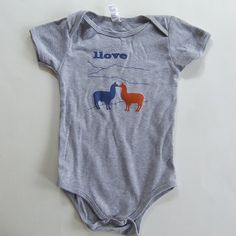 Llama Love Onesie  Infant Bodysuit by BQTshirts on Etsy, $20.00   Well I think we can all guess one of my future purchases.