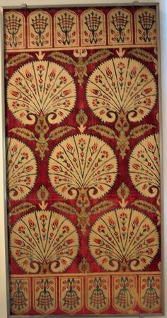 17th century Ottoman Turkish velvet yastik