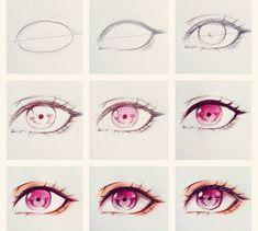 63 New Ideas Drawing Tutorial Anime Eyes Eye Drawing Tutorials, Sketches Tutorial, Eye Tutorial, Drawing Techniques, Art Tutorials, Realistic Eye Drawing, Manga Drawing, Drawing Eyes, Human Eye Drawing