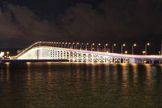Macau Bridge at night by Gita #travel #asia