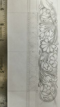 Border Embroidery Designs, Embroidery Suits Design, Embroidery Motifs, Islamic Art Pattern, Pattern Art, Motif Design, Border Design, Ornament Drawing, Fabric Paint Designs
