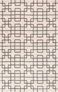 Surya Rugs | Goa Collection - Hand Tufted Wool - Geometric - Grey and White Rug
