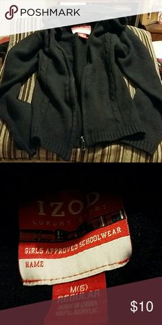IZOD sweater I have a dark blue baby hoodie sweater . It does have a broken zipper. It doesn't zip up. Izod Shirts & Tops Sweaters