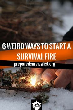 survival fire - start a survival fire with these 6 weird tools that you already should haven your survival kit. These tools can turn dry tinder into a nice and cozy campfire. Survival Food, Outdoor Survival, Survival Prepping, Emergency Preparedness, Survival Skills, Teacher Survival, Survival Hacks, Survival Equipment, Survival Weapons