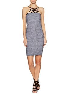 Spider Web Bodycon Mini Dress by Whitney Eve at Gilt