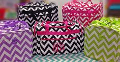 Large Chevron Duffle Bag Great for Teens by BlueSuedeStitches, $28.00