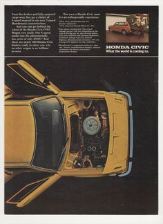 1976 Honda CVCC Civic Wagon 2 Page Advertisement by fromjanet, $8.00