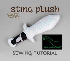 Sewing Tutorial - The Hobbit Sting Plush Sword by SewDesuNe.deviantart.com on @DeviantArt