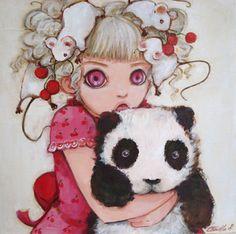 Mô fofa mandou pra mim! *O* Liiiinda! *----* Artista: Camilla d`Errico ~ http://www.camilladerrico.com/art-camilla-derrico-gallery-painting/oil-2.html