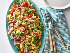 Our lightened up, brightened up Tuna Pasta Salad recipe is made with a lemon-herb vinaigrette and al dente rotini. Appetizers For A Crowd, Seafood Appetizers, Seafood Dishes, Pasta Dishes, Seafood Recipes, Seafood Pasta, Fish Recipes, Recipies, Healthy Recipes