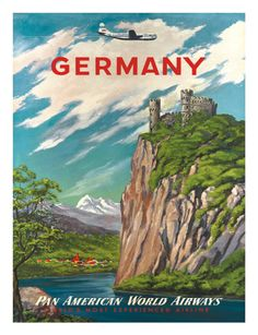 Vintage travel poster - Germany (Pan Am)