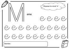 Fichas lectoescritura - Las vocales Math Equations, Words, Lyrics, Horse