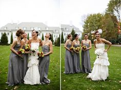 Gray bridesmaid dresses are perfect for almost any wedding theme - classic, traditional, fall, spring, etc.