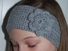 Easy crochet headband earwarmer