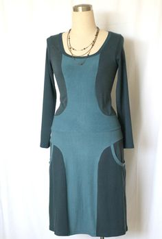 Double color dress with big pockets Custom dress by tasifashion, $98.00