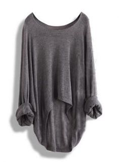 Gorgeous fall grey oversized sweater fashion.. ...