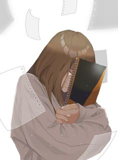 Hair Brown Girls Aesthetic 27 Ideas For 2019 Art Anime, Anime Art Girl, Manga Anime, Anime Love, Beautiful Anime Girl, Anime Girl Crying, Sad Anime Girl, Girl Crying Drawing, Arte Obscura