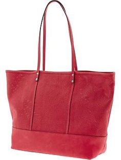 but this Perforated leather tote is nice too