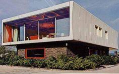 Prefab modular fiberglass house by Wolfgang Feierbach - constructed 1968-1970 in Altenstadt Germany