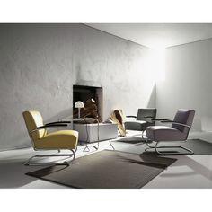 Komfortní relaxační křeslo S 411 z dílny Thonet Design Team