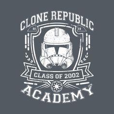 Awesome 'CLONE+REPUBLIC+ACADEMY' design on TeePublic!