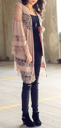 Stone Washed Kimono #moderngo