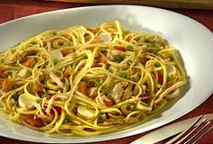 Pasta with chicken and hearts of palm