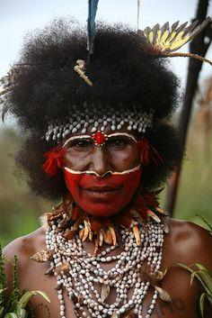 Papua New Guinea   Highlands, Mount Hagen festival singsing.  Image Credit:  Eric Lafforgue