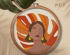 Cross Stitch Art, Cross Stitch Designs, Cross Stitch Embroidery, Hand Embroidery, Cross Stitch Patterns, Abstract Embroidery, Floral Embroidery Patterns, Modern Embroidery, Embroidery Designs