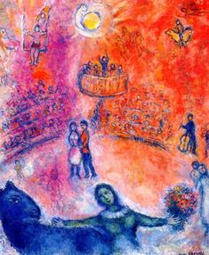 Marc Chagall. Circus, 1980. Óleo sobre lienzo. Colección privada. WikiPaintings.org - the encyclopedia of painting