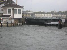 The bridge during hurricane Irene.