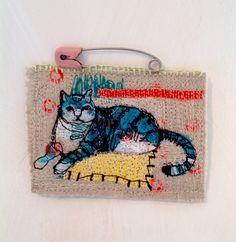Scribble Cat Brooch mrsbertimus.blogspot.com