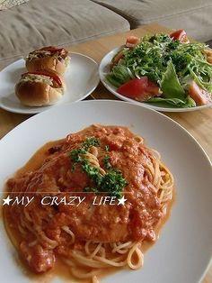 モッツァレラのトマトクリームパスタ by my−crazy−life ...