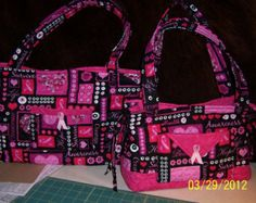 breast cancer quilts   Breast Cancer Awareness Tote bag o r Purse ...