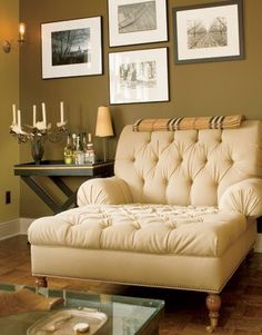 Gorgeous tufted chair.