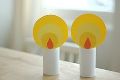 These are super cute - folded paper candle ornaments. Description from pinterest.com. I searched for this on bing.com/images