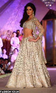 d02088d7e4784 Katrina Kaif in Manish Malhotra! Indian Bridal Wear