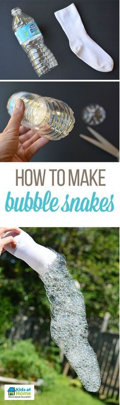 SNAKES BUBBLES! How amazing is this! Materials for this activity are so simple and easy to gather to create these awesome bubbles!