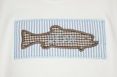 Fish Applique TShirt by harborbluedesigns on Etsy, $17.99