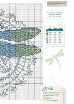 Dragonfly part 2 free cross stitch pattern