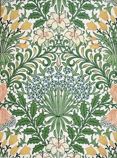 Garden, by William Morris. Wallpaper. England, 19th century. (Chocolate Wallpaper William Morris)