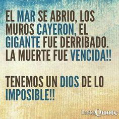Dios de lo imposible.