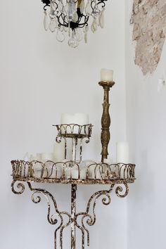Photography and Styling Servies en Brocante / Sanne Boer French Candlesticks